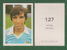 Manchester City Kevin Reeves England 127